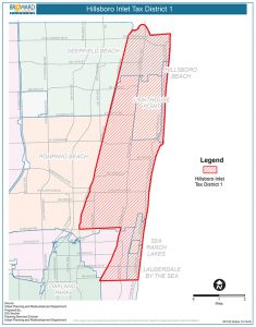 Boundary map of the Hillsboro Inlet Tax District 1